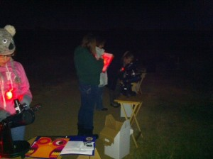 learning how to use the FunScopes to find the moon and Jupiter